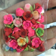 Cute! 10mm Mixed Polymer Fimo Clay Five Petaled Flower Spacer Loose Beads