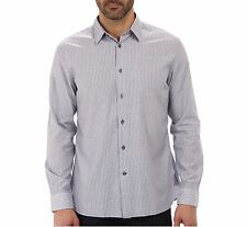 John Varvatos Star USA Men's Long Sleeve Striped Shirt Amethyst $119 msrp NWT