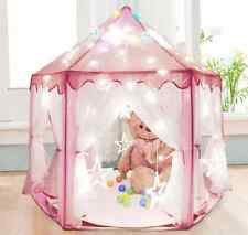 Pink Tent Princess House Castle Girls Playhouse Kids In/Outdoor Fairy Play Set
