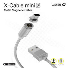 WSKEN X-Cable Mini 2 Metal Magnetic Lightning Micro USB Data Sync Charging Cable