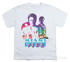 Youth: Miami Vice - Crockett And Tubbs Apparel Kids T-Shirt - White