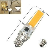 5/10x E12 5W COB 2508 110V/220V Led Dimmable bulb White/Warm Silicone Light Lamp