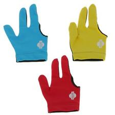 Elastic Nylon  Three Finger Snooker Billiard Table Cue Pool Glove for RIGHT HAND