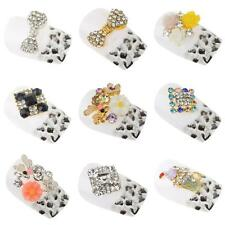 10pcs 3D DIY Nail Art Tips Alloy Decor Bling Crystal Rhinestone Charm Glitters