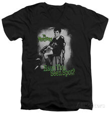The Munsters - Have You Seen Spot V-Neck Apparel T-Shirt - Black