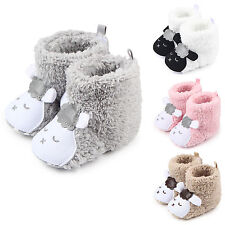 Infant Baby Boy Girl Winter Warm Crib Shoes Booties Soft Sheep Prewalker 0-12M