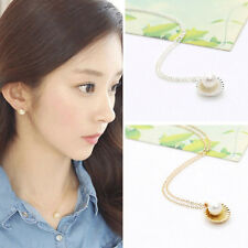 Shell Bead Clavicle Necklace Metal Chain Fashion Jewelry Pendant Necklaces FT