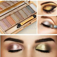 9 Color Eye Shadow Makeup Cosmetic Shimmer Glitter Eyeshadow Palette Set + Brush