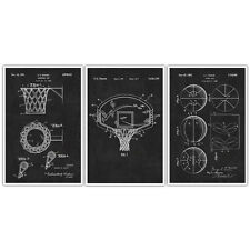 Basketball Patent Prints Set of 3 – Basketball Poster – Basketball Print – Ba...