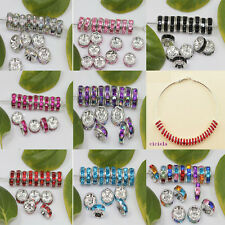 wholesale 50/100Pcs Glass Silver Plated Spacer Loose Beads Charms Findings 8mm