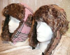 New Unisex Aviator Winter Hat Trapper Earflap Wool Plaid Bomber Snow Ski Cap