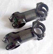 "Full Carbon Fiber 1-1/8"" 3K 31.8 MTB Road Bike Bicycle 6° 17° Handlebar Bar Stem"