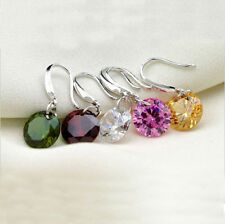 1 Pair Earrings Elegant Rhinestone Ear Stud Ear Hook Dangle Drop Crystal Women
