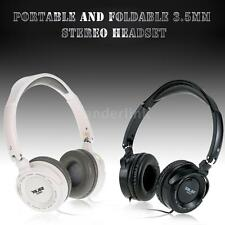 3.5mm Wired Stereo Headset Headband Foldable Headphone for Laptop Computer G4X6