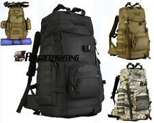 900D 60L Tactical Molle Backpack Waterproof Army Military Travel Multi-purpose