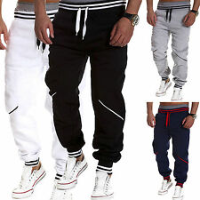Mens Casual Sports Track Pants Tracksuit Bottoms Jogging Training Trousers Slack