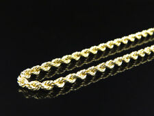 Mens Ladies 14K Yellow Gold 3 MM Hollow Rope Chain Necklace 16-30 Inches