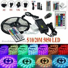 5M 10M 20M 5050 SMD 300leds Flexible LED Strip Light Xmas Tape Lamp Power Supply