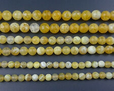 yellow fire agate stone beads natural gemstone round faceted beads 6mm 8mm 10mm