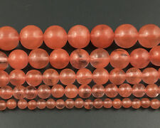 red cherry quartz beads gemstone beads round loose beads 4mm 6mm 8mm 10mm 12mm