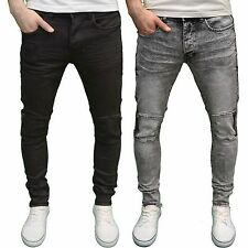 Eto Mens Designer Branded Slim Fit Straight Leg Jeans w/Zip Detail, BNWT