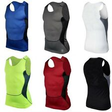Men Sleeveless Compression Base Layer Top Gym Running Sports Shirt Vest Athletic