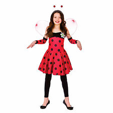 Girls Lovely Ladybug Ladybird Halloween Fancy Dress Costume Kids Party Outfit