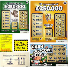 FAKE JOKE LOTTERY SCRATCH CARDS - BEST IN THE UK - PLUS BONUS JOKES