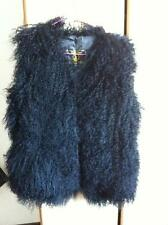 100% Real Sheep Fur Lamb short Vest Mongolian Gilet Waistcoat Valentine's Day