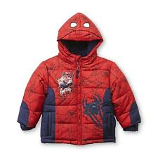 Spiderman Marvel Hooded Puffer Jacket Boy's size 3T New w/Tags