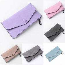 Fashion Women PU Faux Leather Envelope Zipper Wallet Purse Clutch Bag Holder