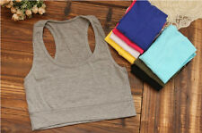 Hot Cropped Sport Racerback Sleeveless Top Bra Yoga 1PC Athletic Tube Tank