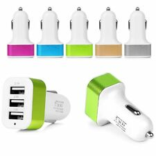 Univeral Colorful 3Port USB Car Socket Charger For iPhone Samsung HTC LG