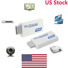Premium Wii To HDMI Converter Adapter 3.5mm Audio Video Output Full HD 1080P LOT
