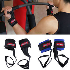 Weight Lifting Bar Straps Gym Bodybuilding Wrist Support Wraps Bandage