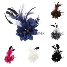 Fashion Elegant Wedding Bridal Fabric Flower Hair Clip Brooch Pin Barrette Decor