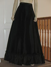 Ladies Victorian / Edwardian Style Grand Parlour Skirt   (Black)