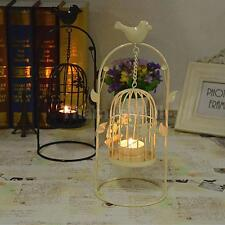 Vintage Hanging Birdcage Candle Holder Tealight Candlestick Party Decor BLK/WHT