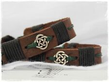 Celtic Leather Bracelet, Men's Leather Bracelet Cuff, Love Knot Cuff