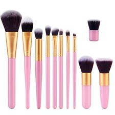 11Pcs Makeup Brushes Set Cosmetic Foundation Powder Eyeshadow Lip Brush Tool Kit