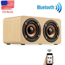 Wooden Wood Portable Wireless Bluetooth Speaker Retro for Phones Tablet PC l