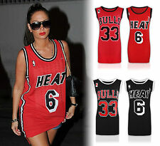 New Ladies Womens Celebrity Inspired Bulls 33 Print Vest Sports Top UK 8-14