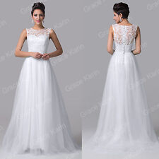 CUSTOM SIZE Tulle Long Formal Wedding Evening Ballgown Party Cocktail Prom Dress
