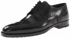 Hugo Boss Mens Leather Dress Shoes Clasto Black Wing Tip Oxford Shoe Lace