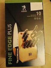 NEW J.A. Henckels International Fine Edge Plus 10-Piece Knife Block Set