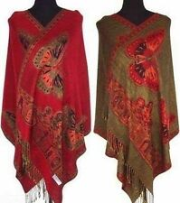 Fashion-New-Chinese-Lady-Double-Side-Butterfly-Pashmina..-Scarf-Wrap-Shawl-Cape