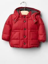 Baby GAP Boys 0-6 Months NWT Red Warmest Puffer Coat Jacket Fleece Lined $68