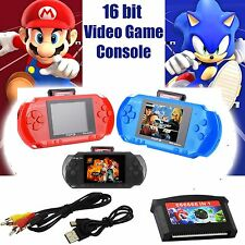 2GB 16 bit Handheld Video Game Console PXP3 200+ Games with USB TV Cable