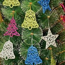 2016 Wholesale 6pcs Christmas Tree Bell Star Party Ornaments Xmas Hanging Decor