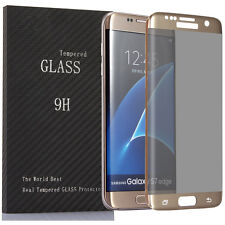 For Samsung Galaxy S7 Edge Privacy Full Screen Protector Anti-Spy Tempered Glass